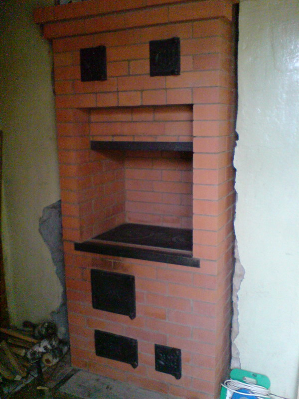 Плита из кирпича в доме своими руками 144